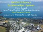 invariant inference for many object systems