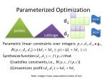 parameterized optimization