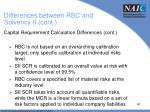 differences between rbc and solvency ii cont1