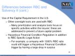 differences between rbc and solvency ii cont4