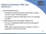 differences between rbc and solvency ii