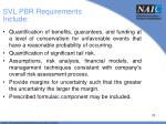 svl pbr requirements include