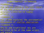 experimental evidences1