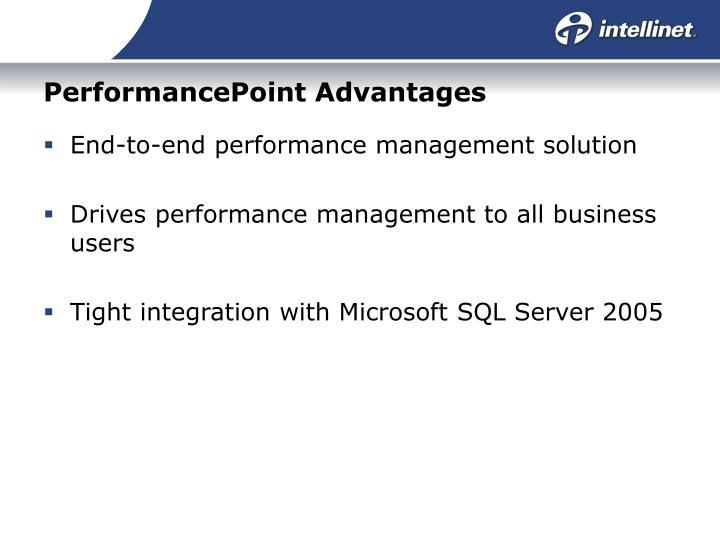 PerformancePoint Advantages