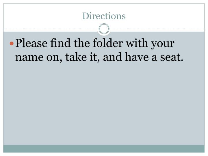 directions n.