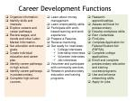 career development functions