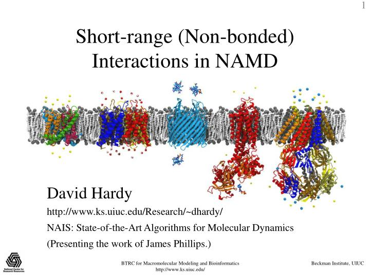 short range non bonded interactions in namd n.