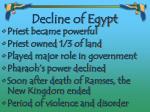 decline of egypt