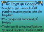 the egyptian conquest