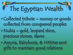 the egyptian wealth