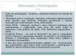 hierarquia x participa o