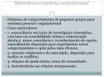 metavalores e mudan a organizacional