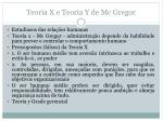 teoria x e teoria y de mc gregor