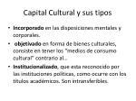capital cultural y sus tipos