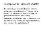concepci n de las clases sociales