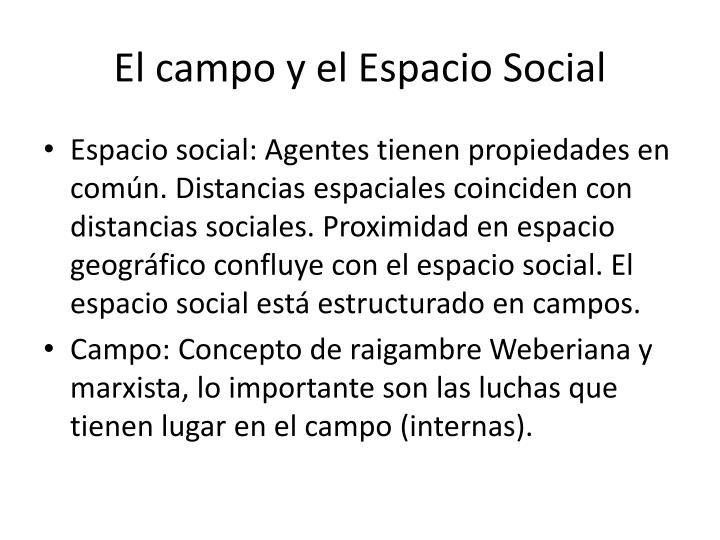 El campo y el Espacio Social