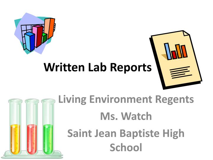 written lab reports n.