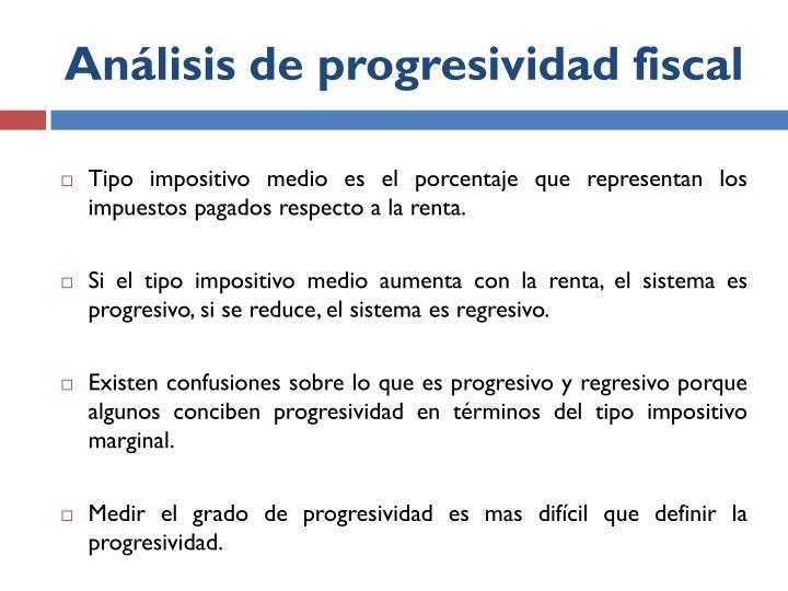 Análisis de progresividad fiscal