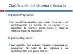 clasificaci n del sistema tributario