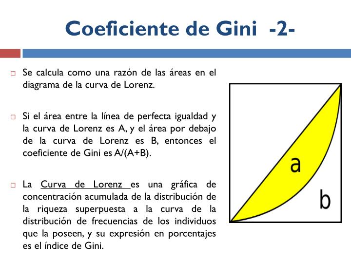 Coeficiente de Gini  -2-