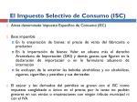 el impuesto selectivo de consumo isc