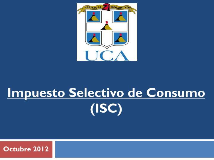 Impuesto Selectivo de Consumo