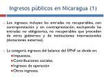 ingresos p blicos en nicaragua 1