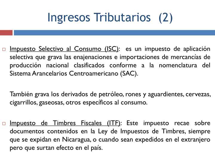 Impuesto Selectivo al Consumo (ISC)