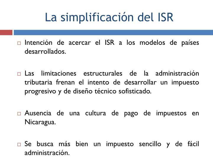 Intención de acercar el ISR a los modelos de países desarrollados.