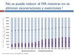 no se puede reducir el iva mientras no se eliminen exoneraciones y exenciones