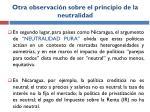 otra observaci n sobre el principio de la neutralidad