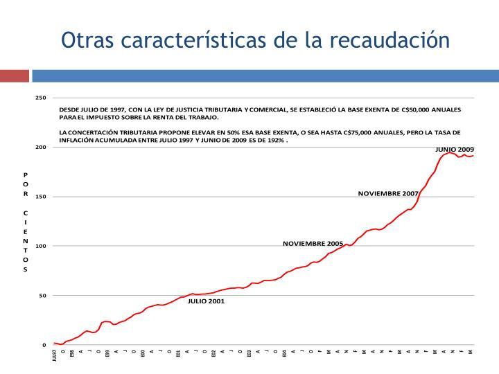 Tabla progresiva del IR fija en términos nominales desde el año 1997, con una base exenta de C$50,000.