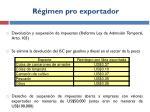 r gimen pro exportador