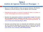 tarea 2 an lisis de ingresos fiscales en nicaragua 1