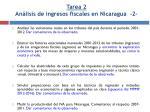 tarea 2 an lisis de ingresos fiscales en nicaragua 2