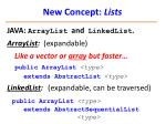 new concept lists