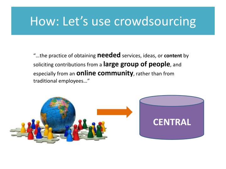 How: Let's use crowdsourcing