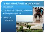 secondary effects of the floods