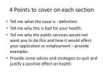 4 points to cover on each section