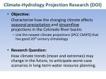 climate hydrology projection research doi