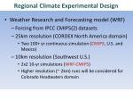 regional climate experimental design