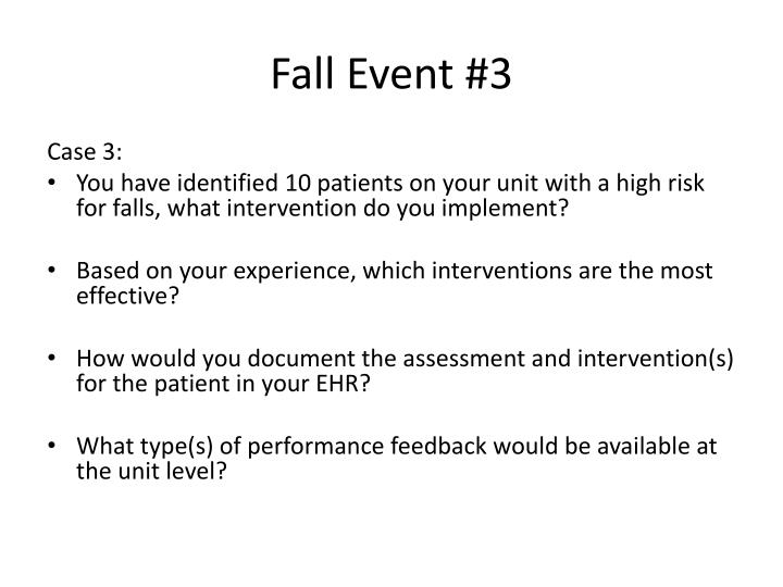 Fall Event #3