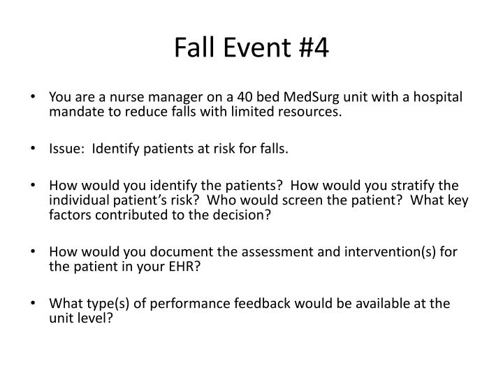 Fall Event #4