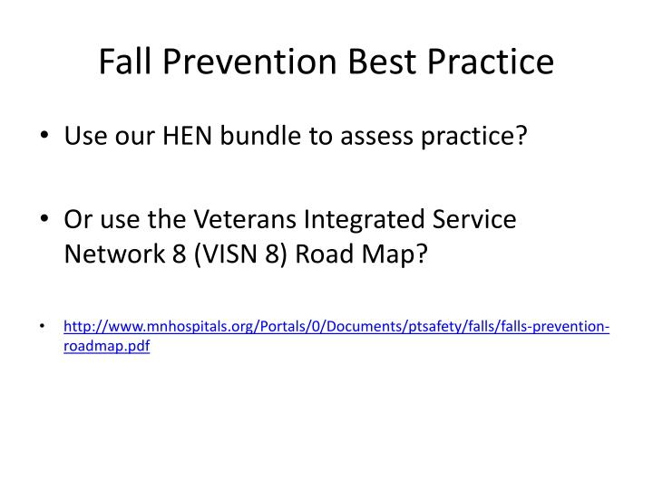 Fall Prevention Best Practice