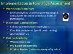 implementation formative assessment