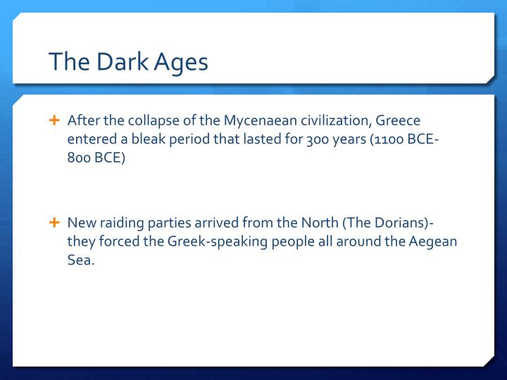 the dark ages n.