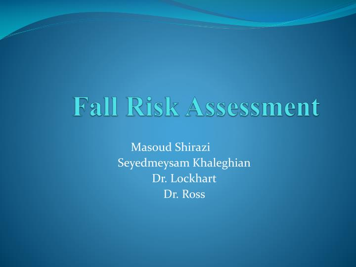 fall risk assessment n.