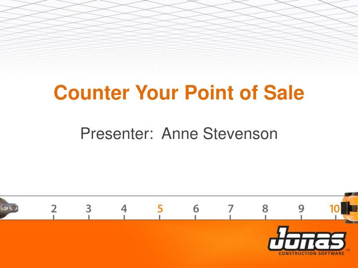counter your point of sale n.
