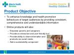 product objective