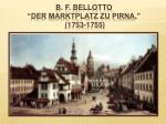 b f bellotto der marktplatz zu pirna 1753 1755